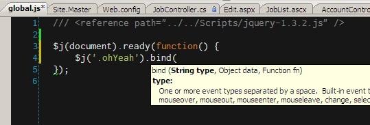 Javascript Intellisense & jQuery noConflict()