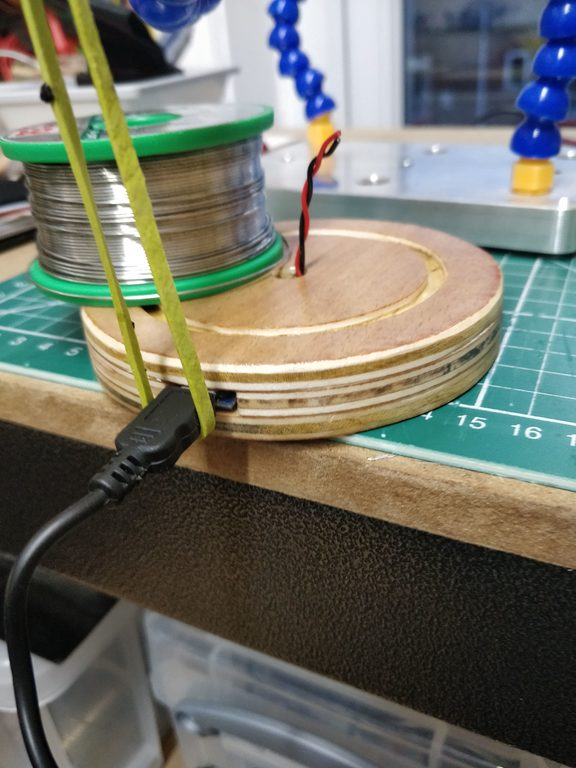 Plywood Base with Epoxied USB port